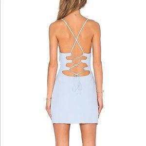 Brand new NBD light blue mini dress